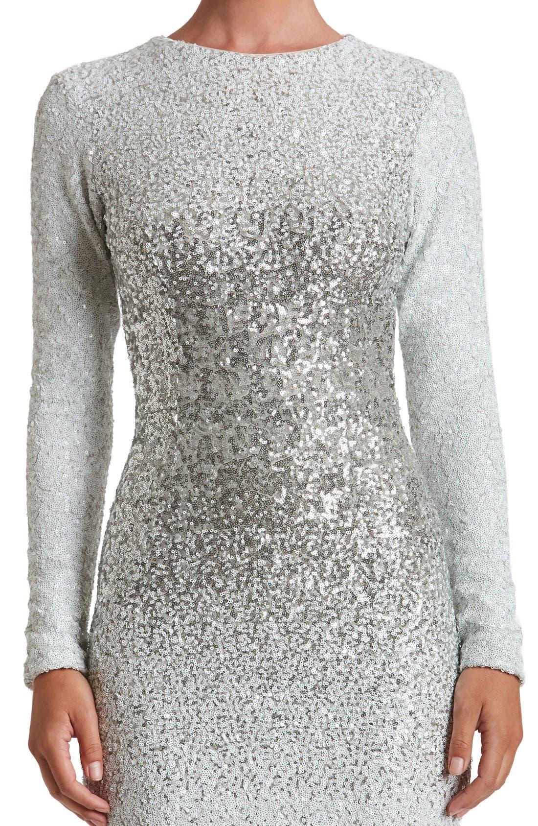 Alternate Image 6  - Dress the Population Brooke Sequin Midi Dress