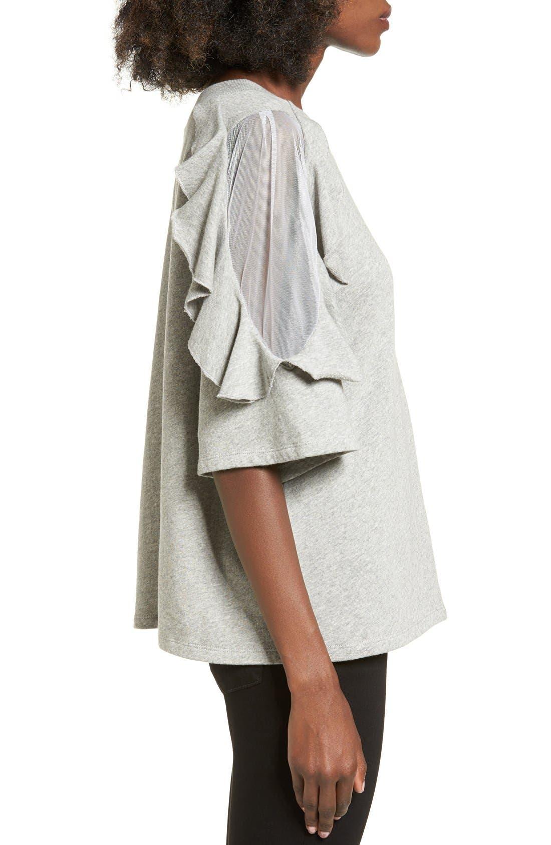 Alternate Image 3  - BP. Ruffle Sleeve Sweatshirt