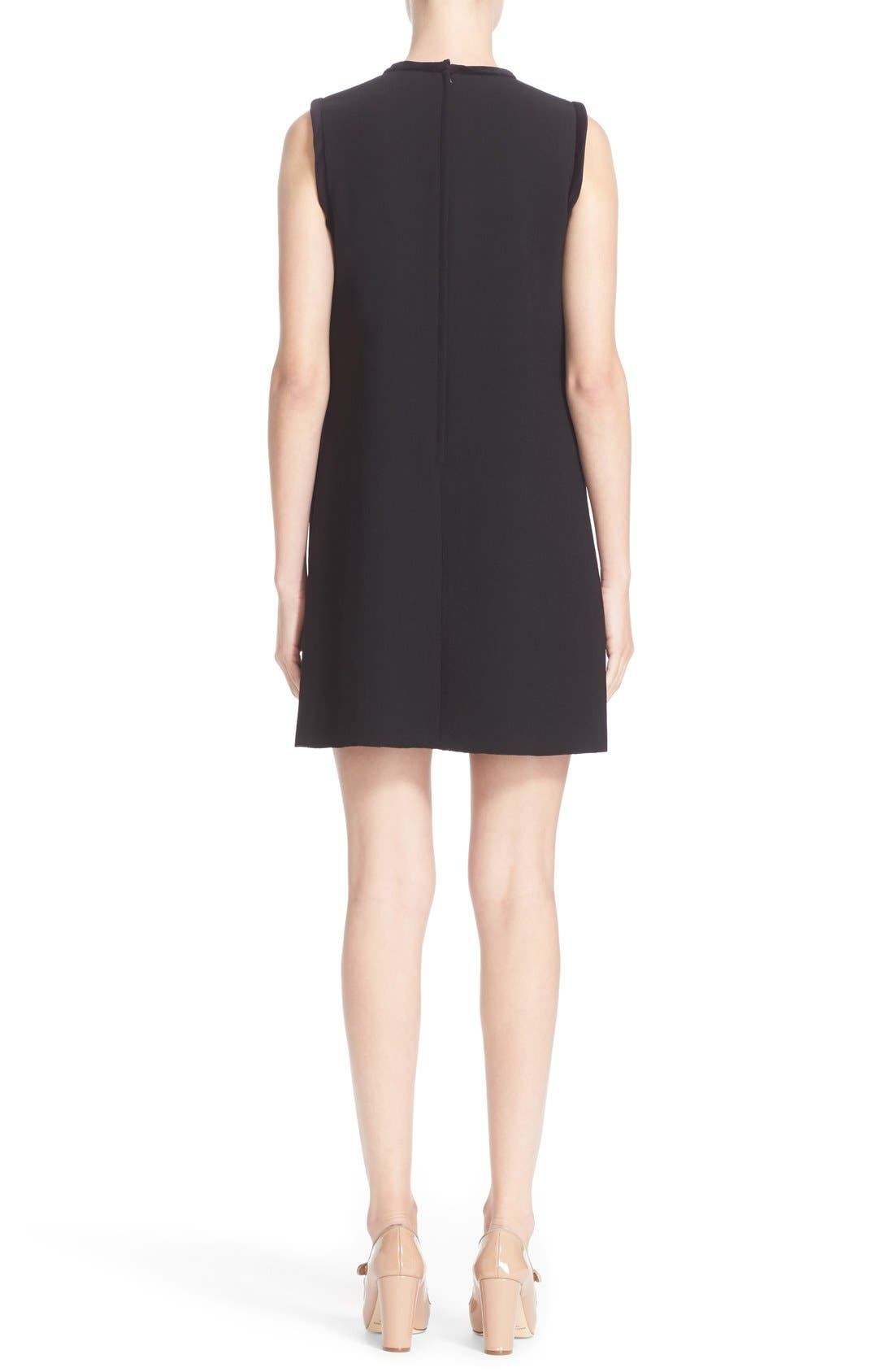 Alternate Image 2  - Dolce&Gabbana Cat Appliqué Wool Blend Crepe Dress