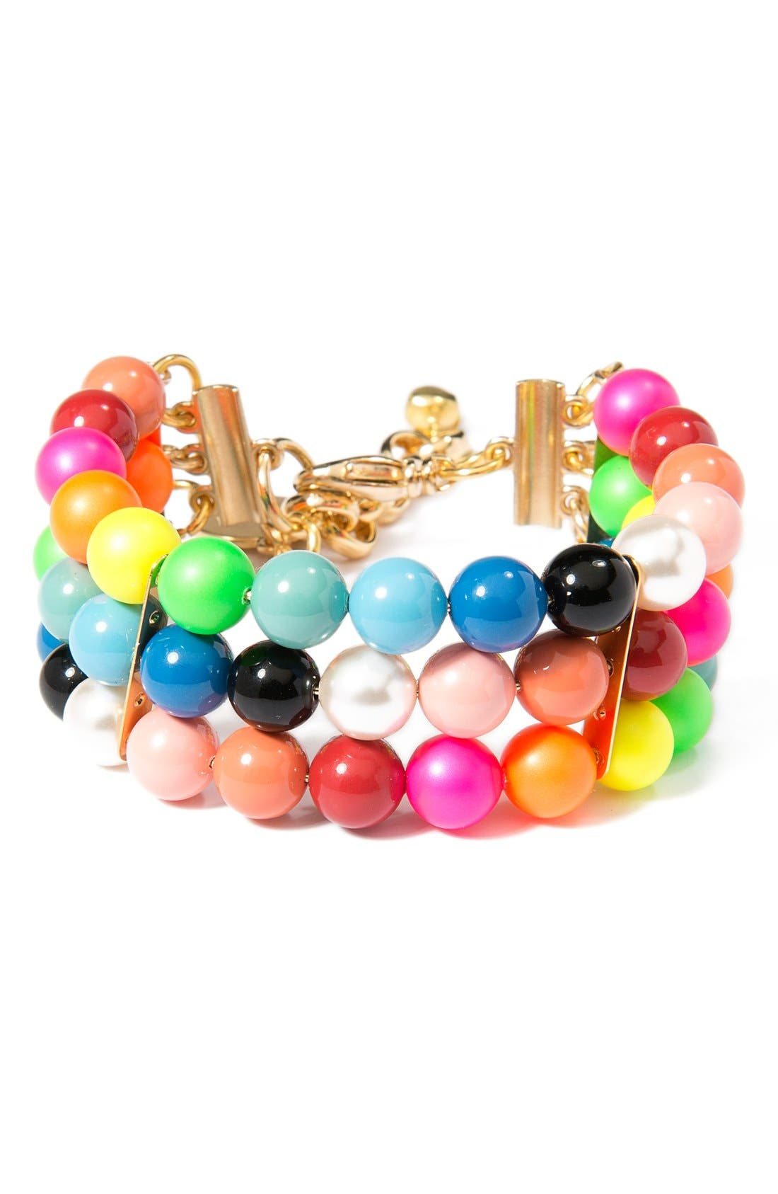 Alternate Image 1 Selected - Venessa Arizaga Candy Queen Imitation Pearl Bracelet