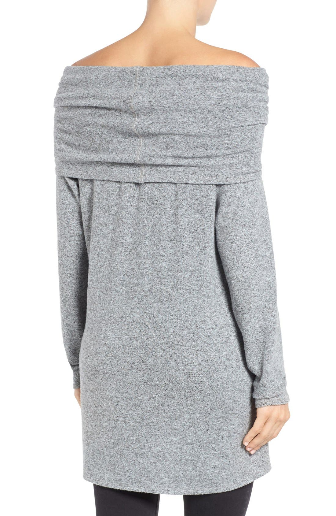 Alternate Image 3  - Gibson Convertible Neckline Cozy Fleece Tunic (Regular & Petite)