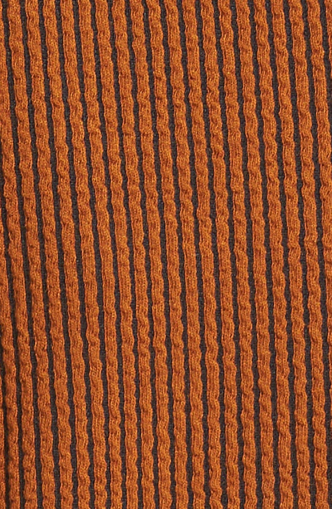 Alternate Image 5  - Tibi Stripe Texture Knit Bell Sleeve Dress