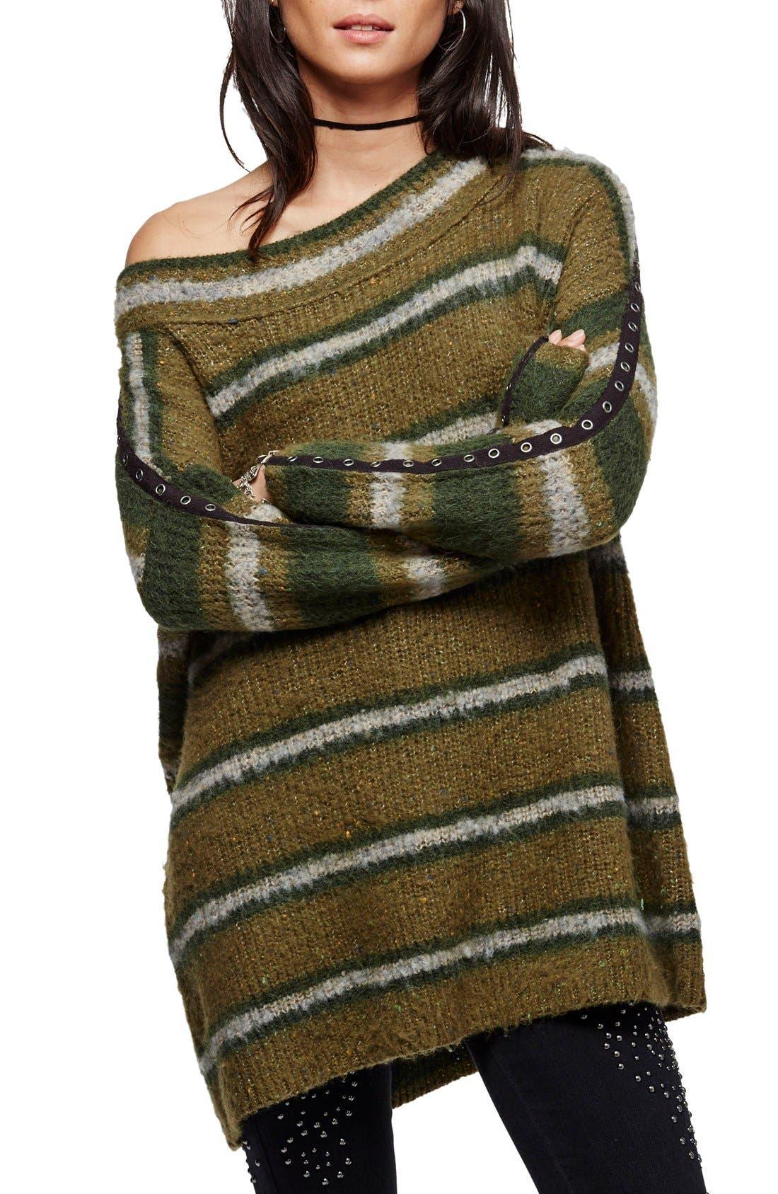 Alternate Image 1 Selected - Free People Stripe Tunic Sweater