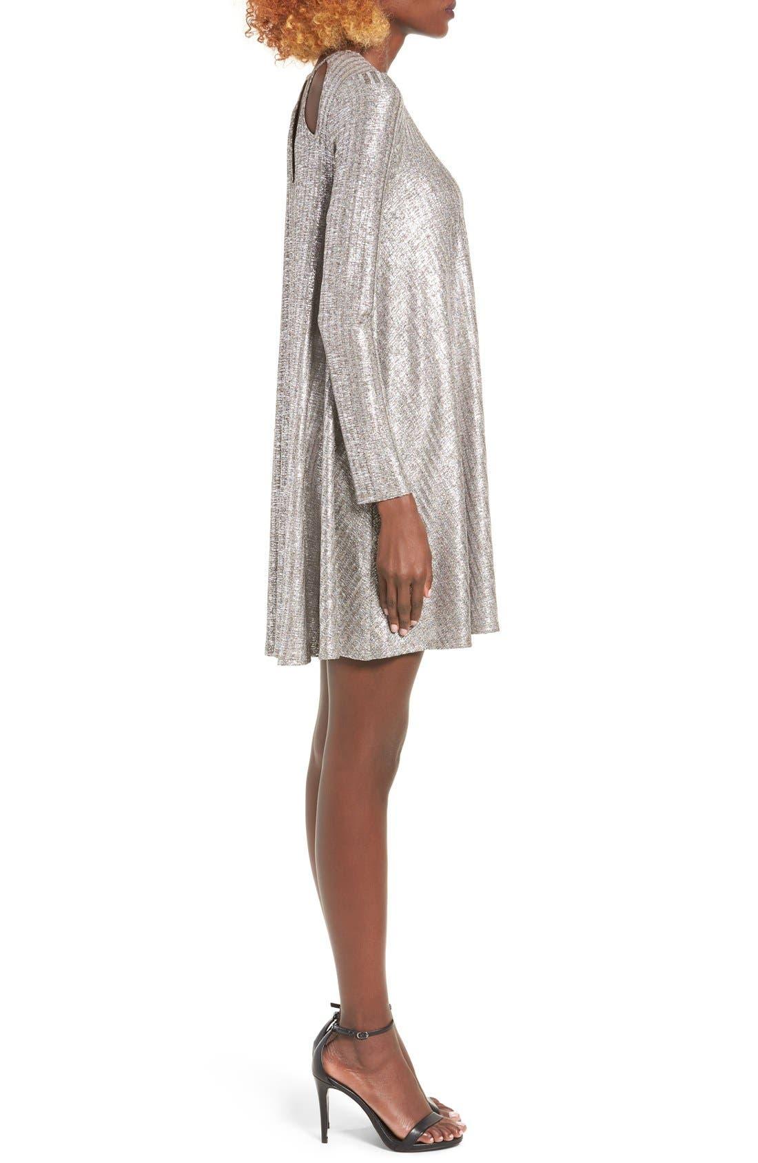 Alternate Image 3  - dee elly Shine Swing Dress