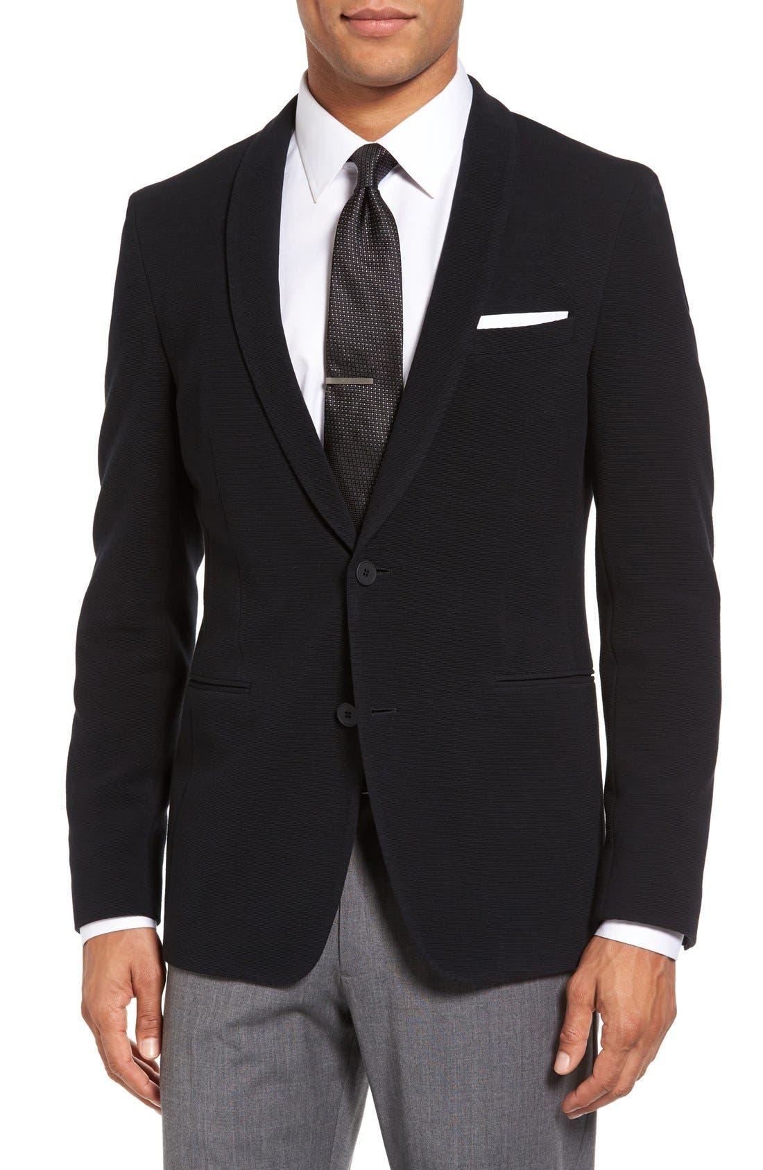 BOSS Reaman Extra Trim Fit Stretch Cotton Blazer