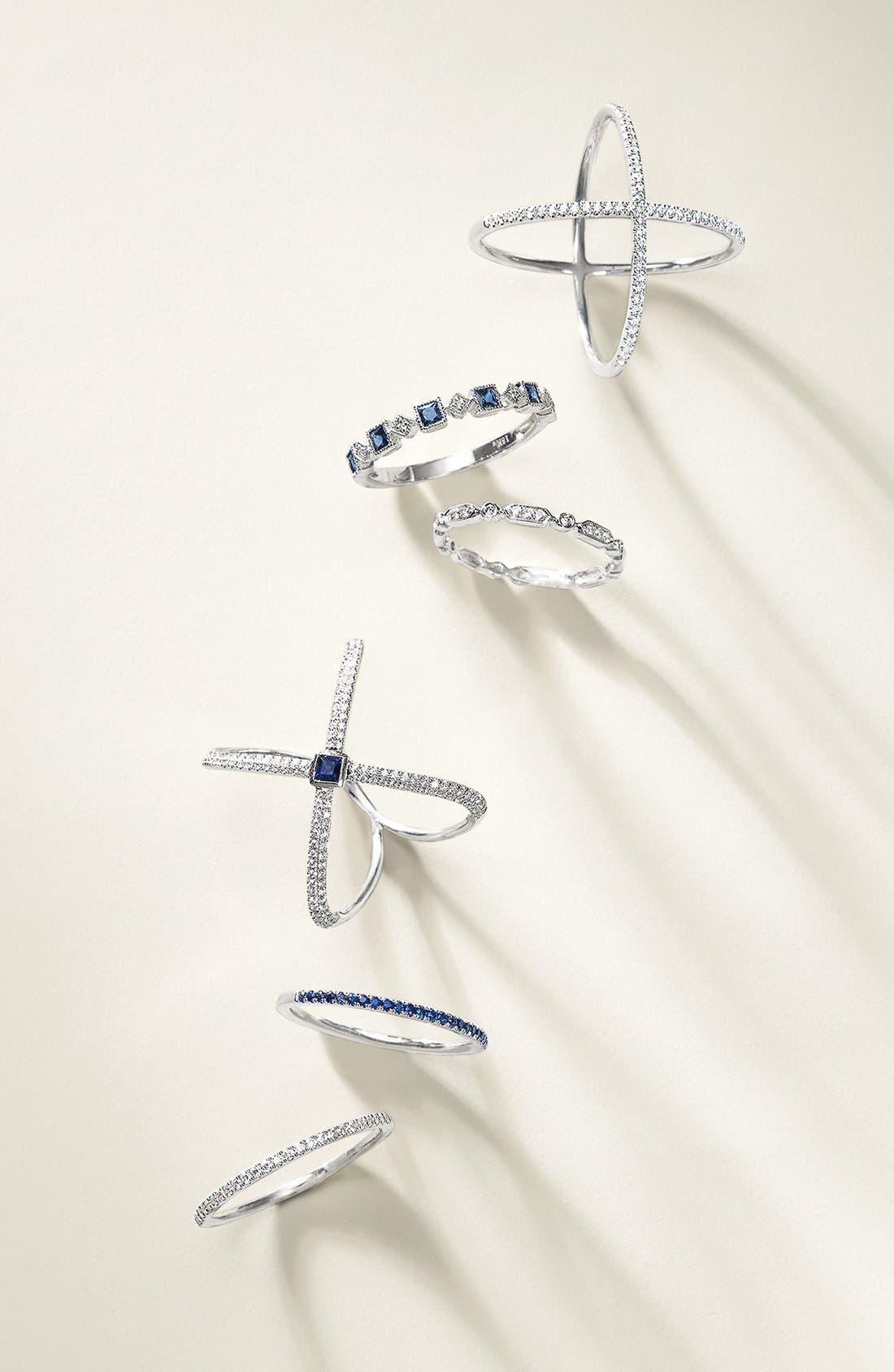 Alternate Image 3  - Bony Levy Diamond & Gem Crossover Ring (Nordstrom Exclusive)