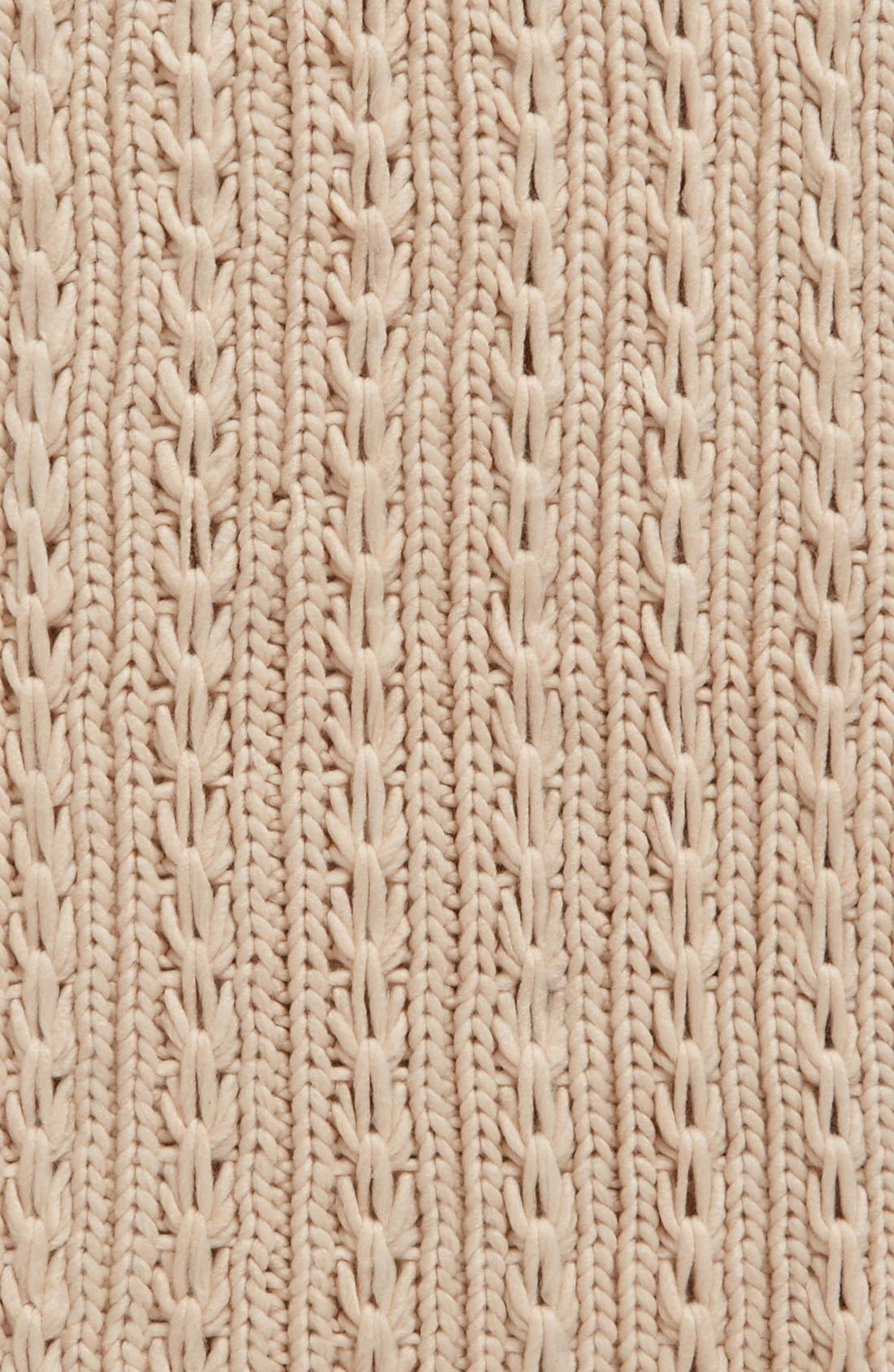 Alternate Image 3  - Lulu Cable Knit Infinity Scarf (Juniors) (Online Only)