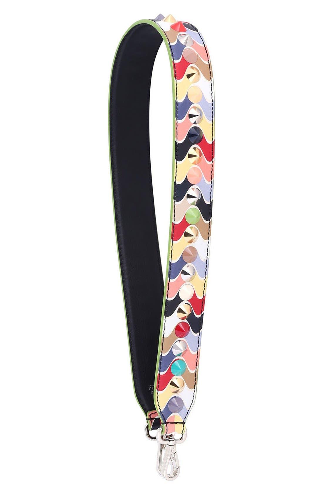Main Image - Fendi Strap You Wave Stud Leather Guitar Bag Strap