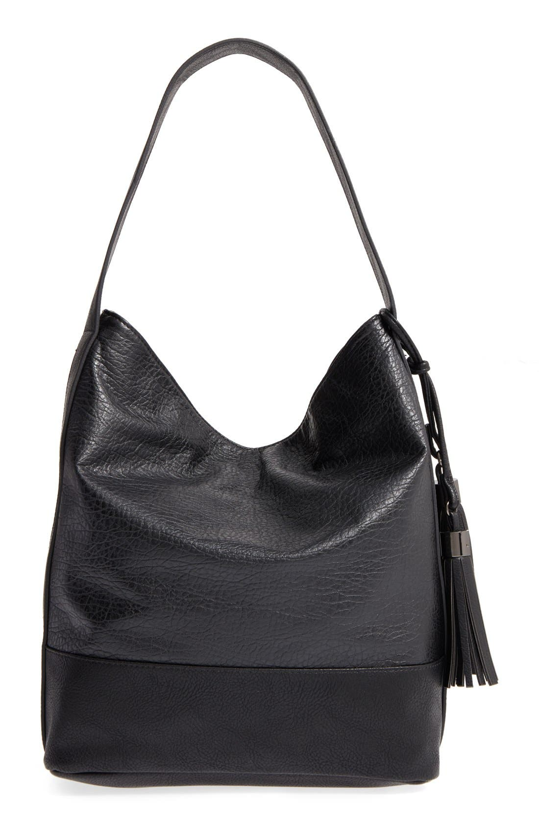 Alternate Image 2  - POVERTY FLATS by rian Faux Leather Hobo