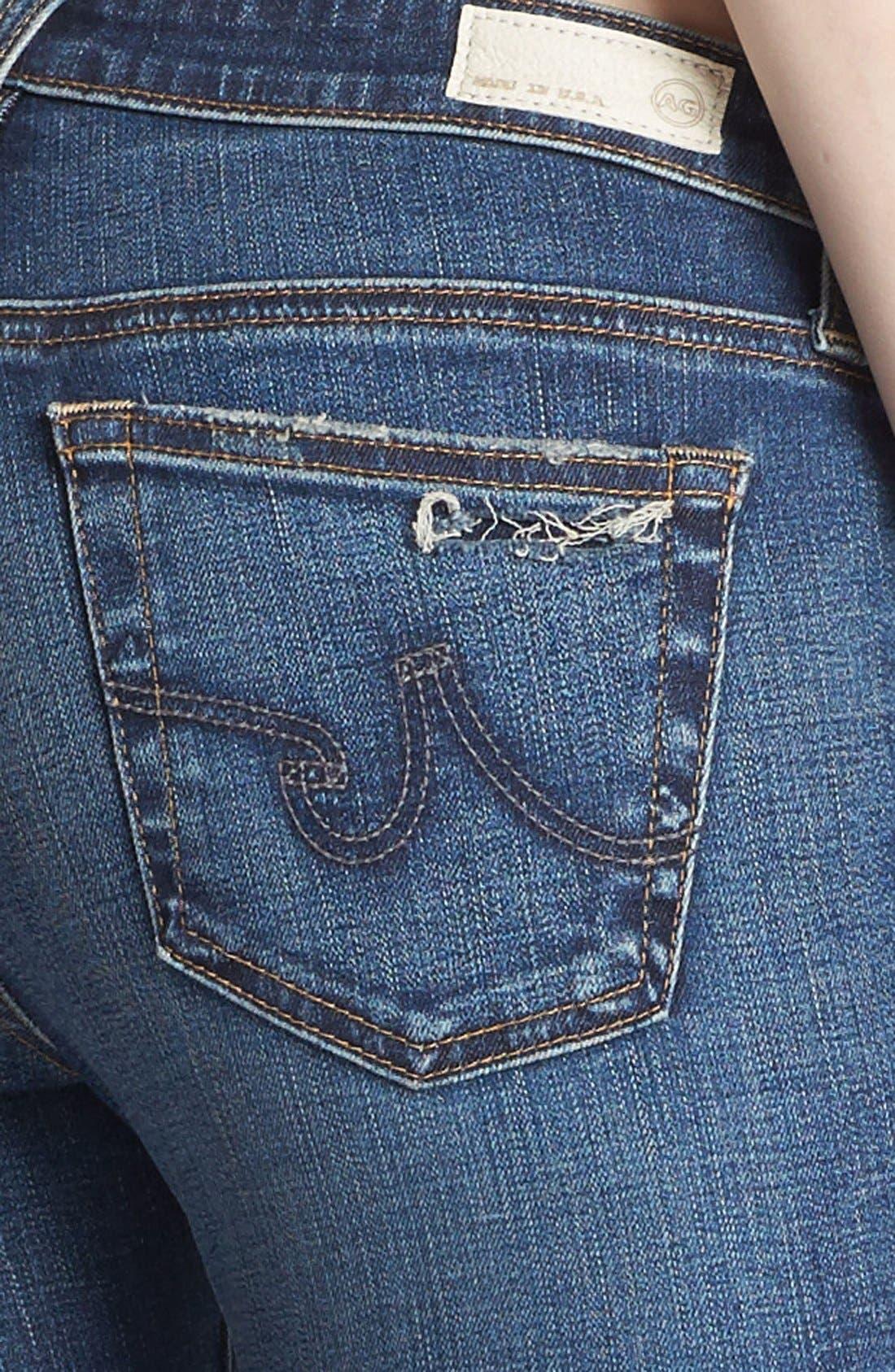 Alternate Image 5  - AG 'The Legging' Ankle Jeans (7 Year Break with Raw Hem)
