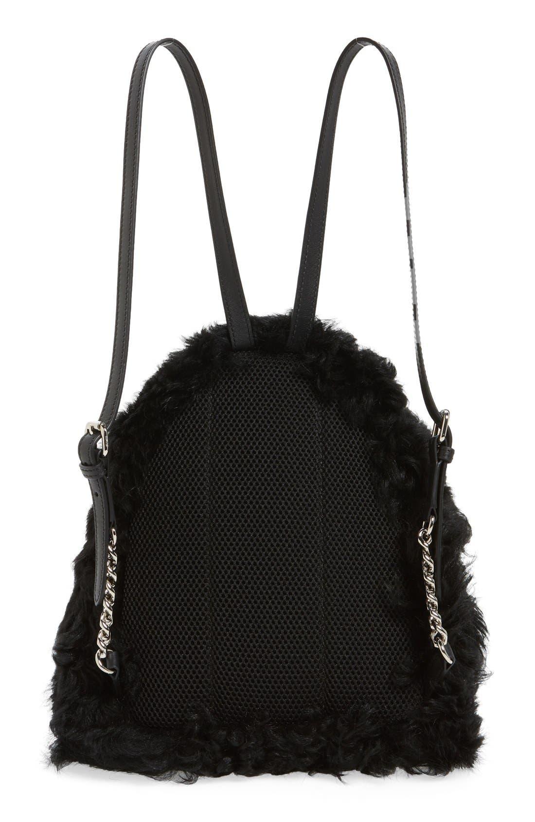 Alternate Image 3  - Fendi 'Mini Monster' Genuine Shearling & Genuine Mink Fur Backpack