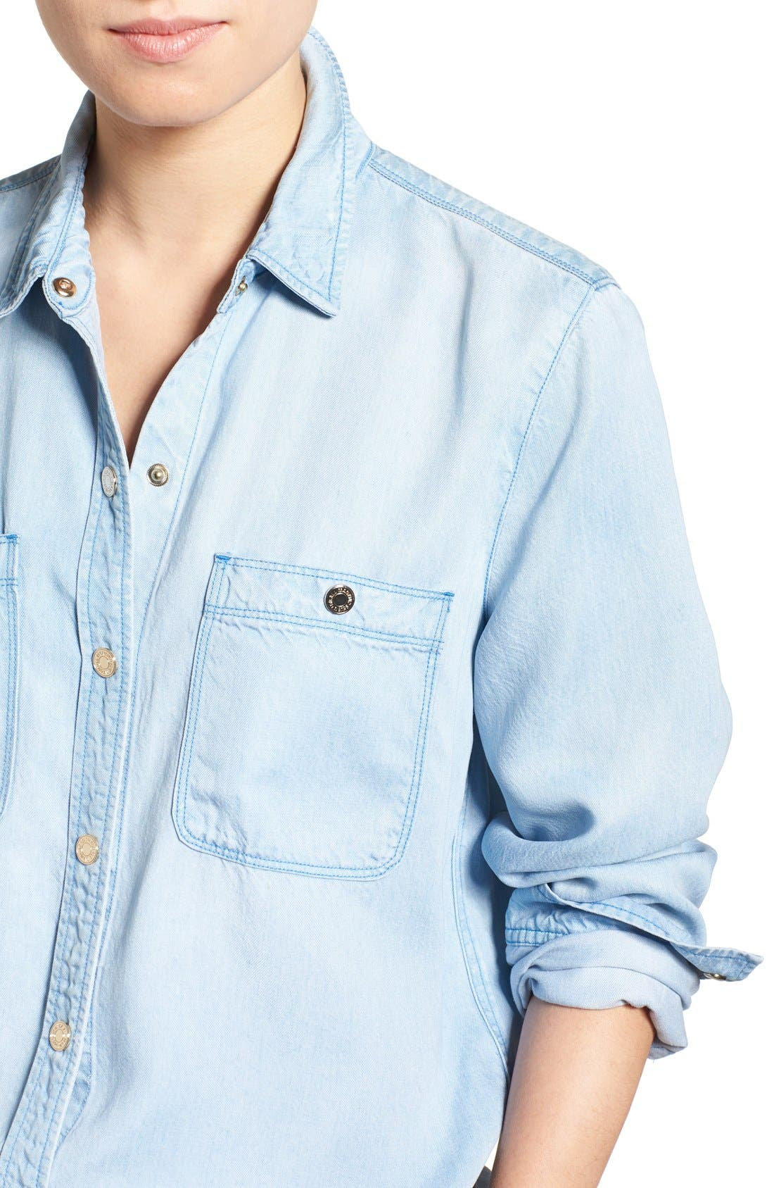 Alternate Image 4  - 7 For All Mankind® Boyfriend Chambray Shirt