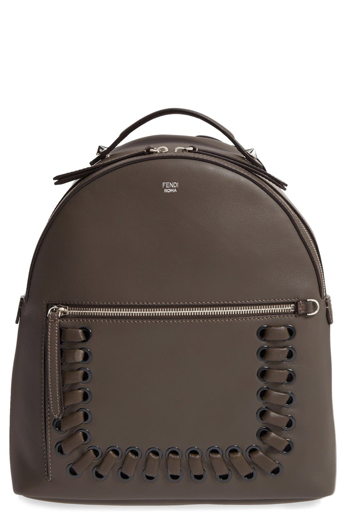 FENDI Calfskin Leather Backpack
