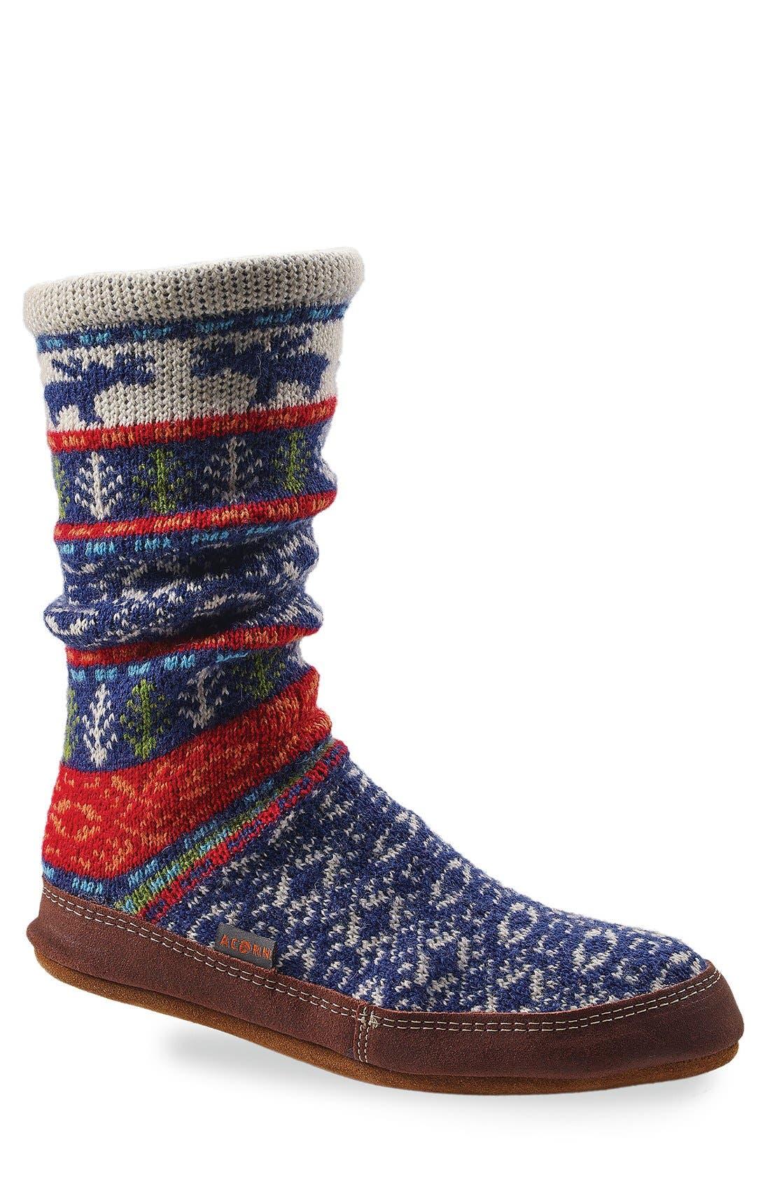 Acorn Print Slipper Sock (Women)