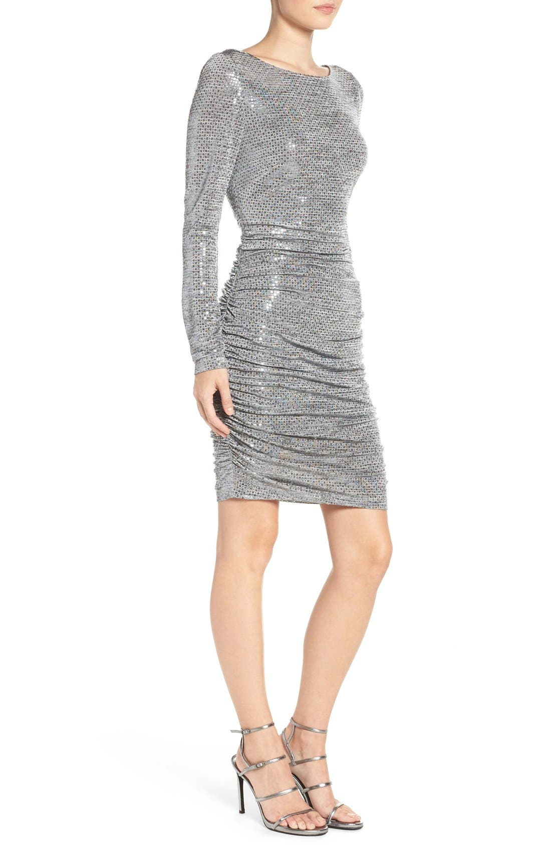 Alternate Image 4  - Vince Camuto Sequin Body-Con Dress