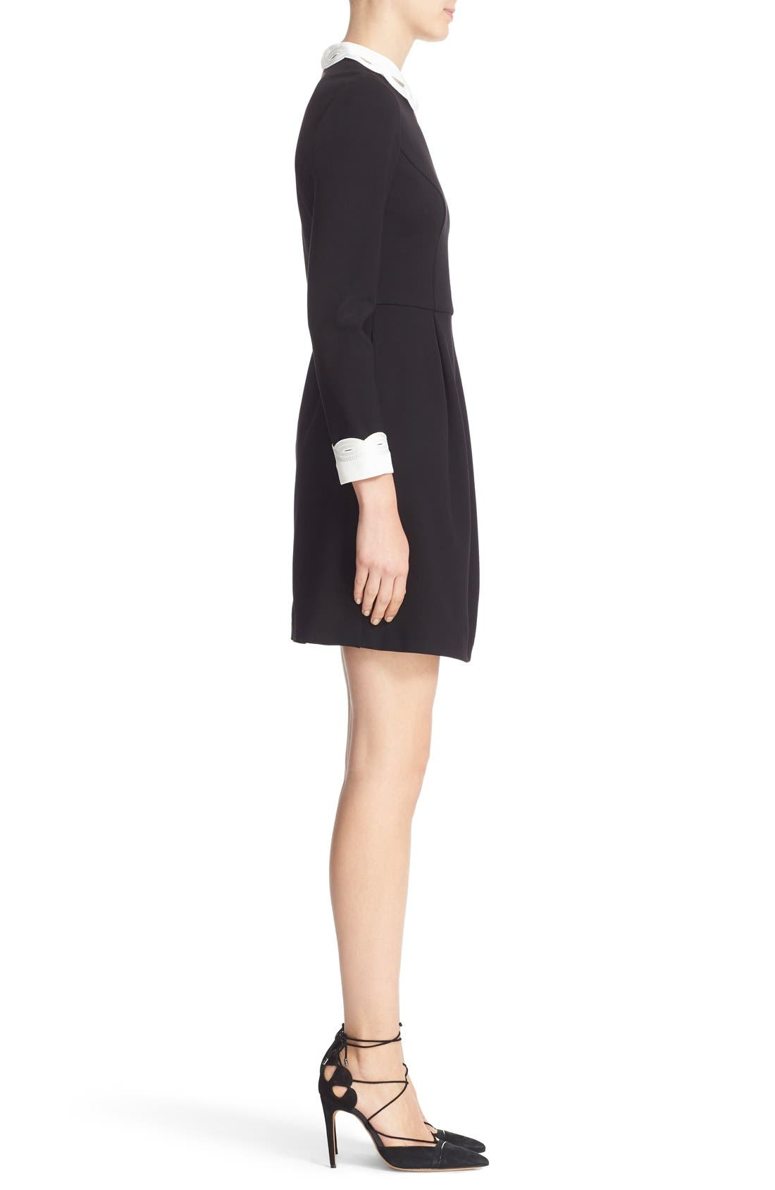 Alternate Image 3  - Ted Baker London Embroidered Collar Fit & Flare Dress