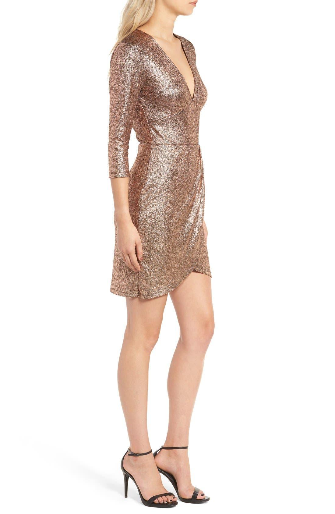Alternate Image 3  - Leith Metallic Body-Con Dress