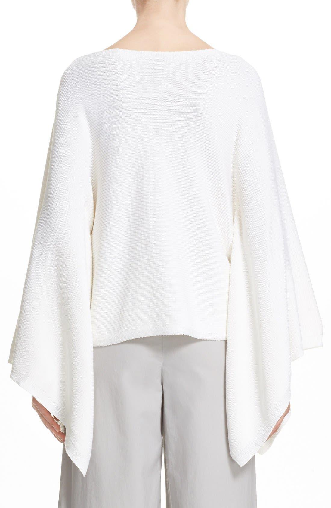 Alternate Image 2  - Lafayette 148 New York Crop Silk & Cotton Kimono Sweater