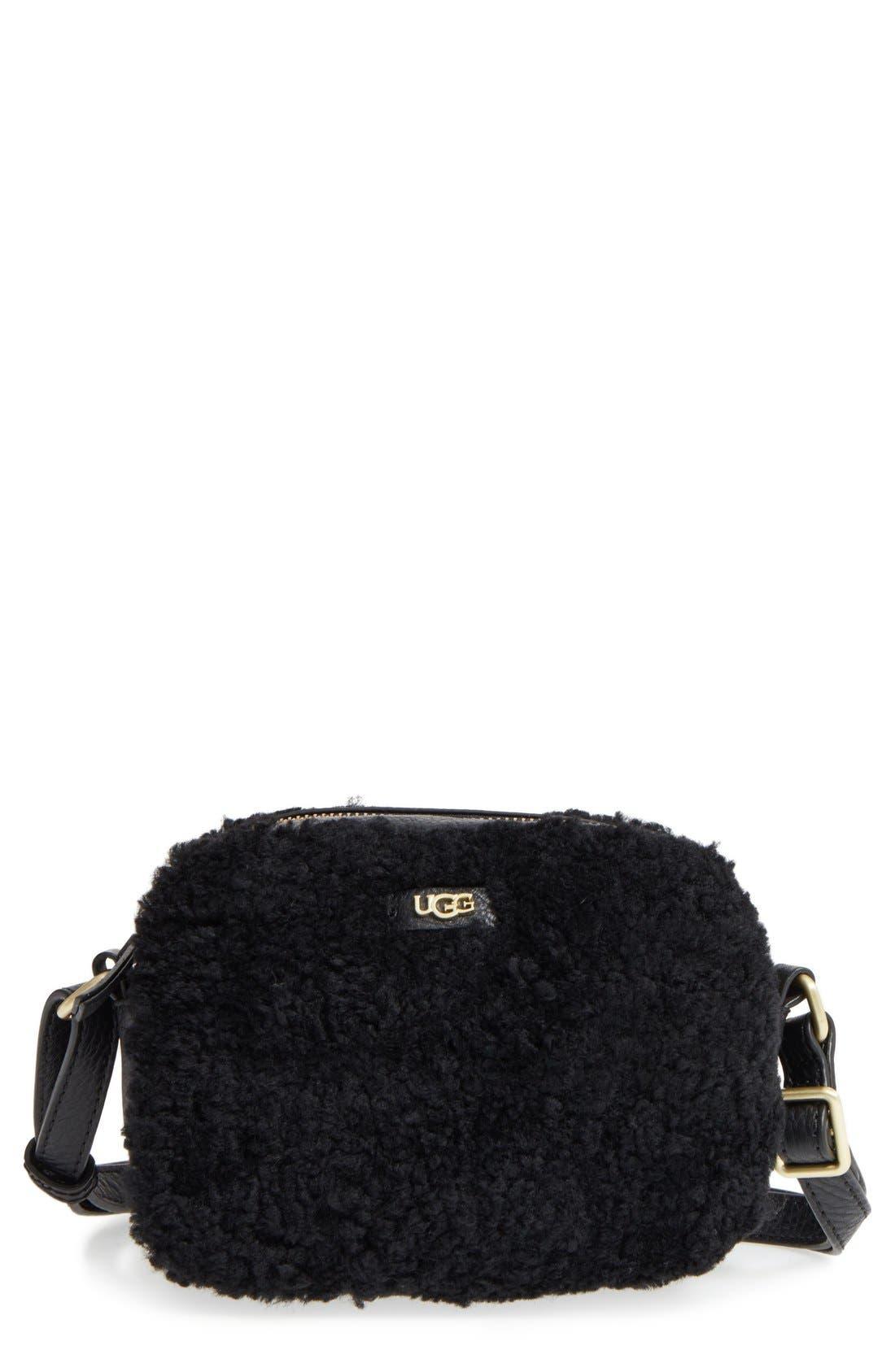 UGG® Claire Genuine Shearling Crossbody Bag