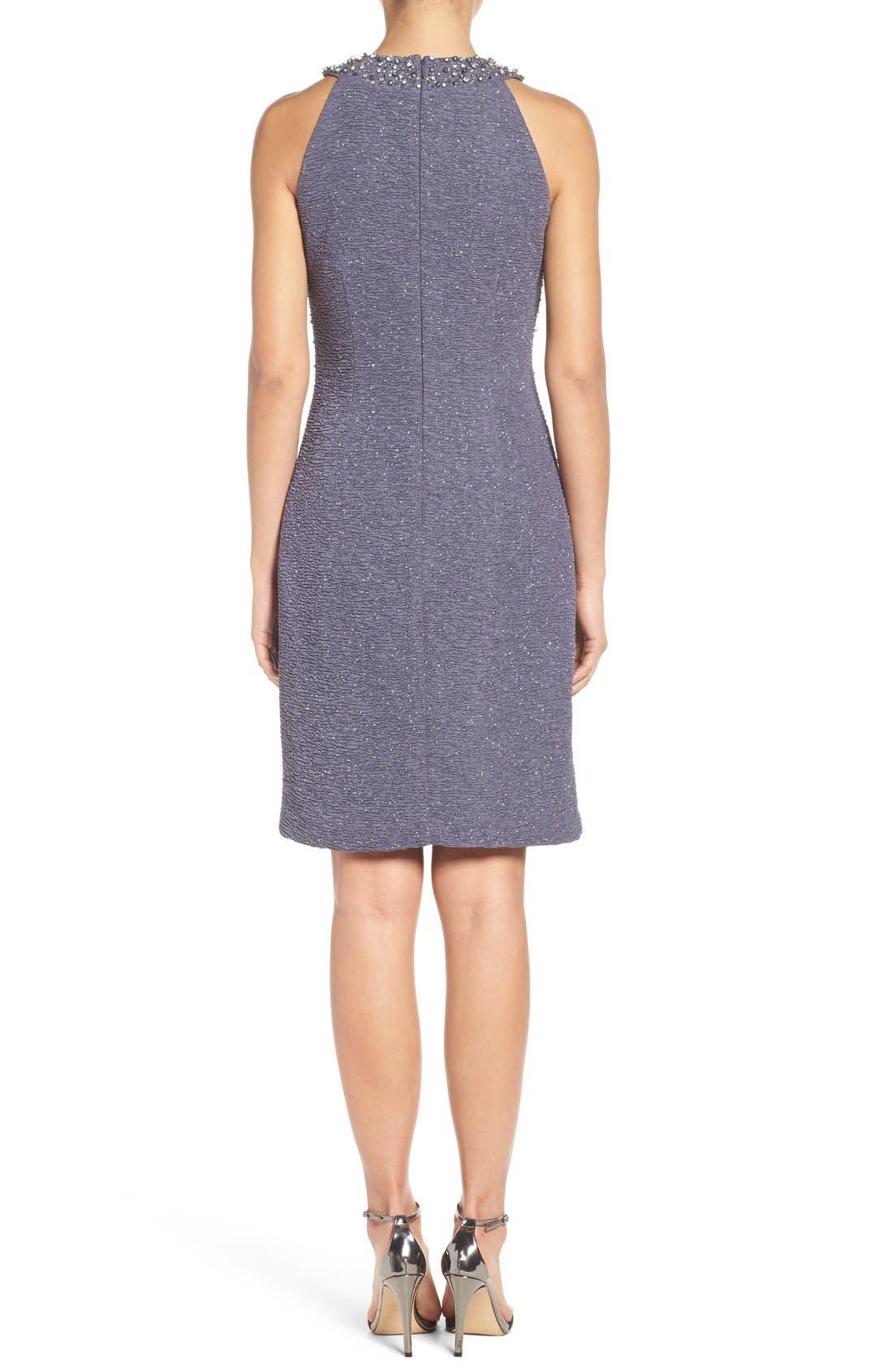 Alternate Image 3  - Eliza J Embellished Sheath Dress (Regular & Petite)