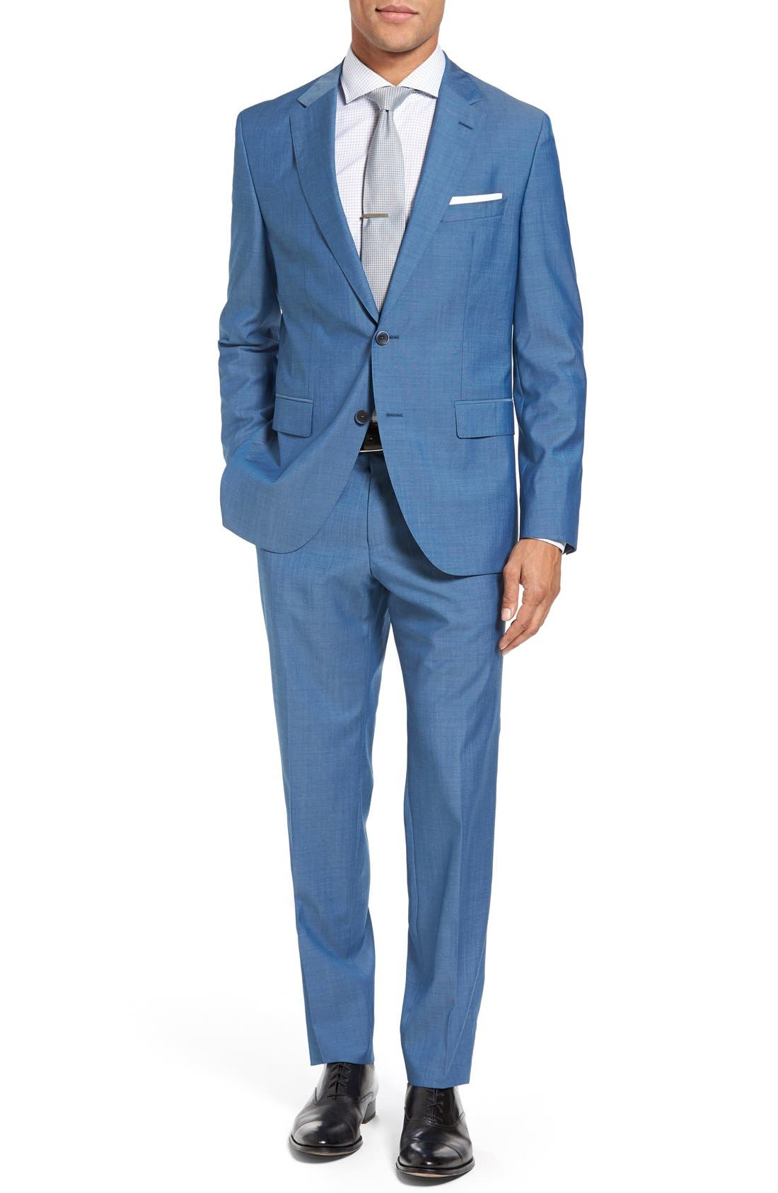 BOSS Jewels/Linus Trim Fit Solid Wool Suit