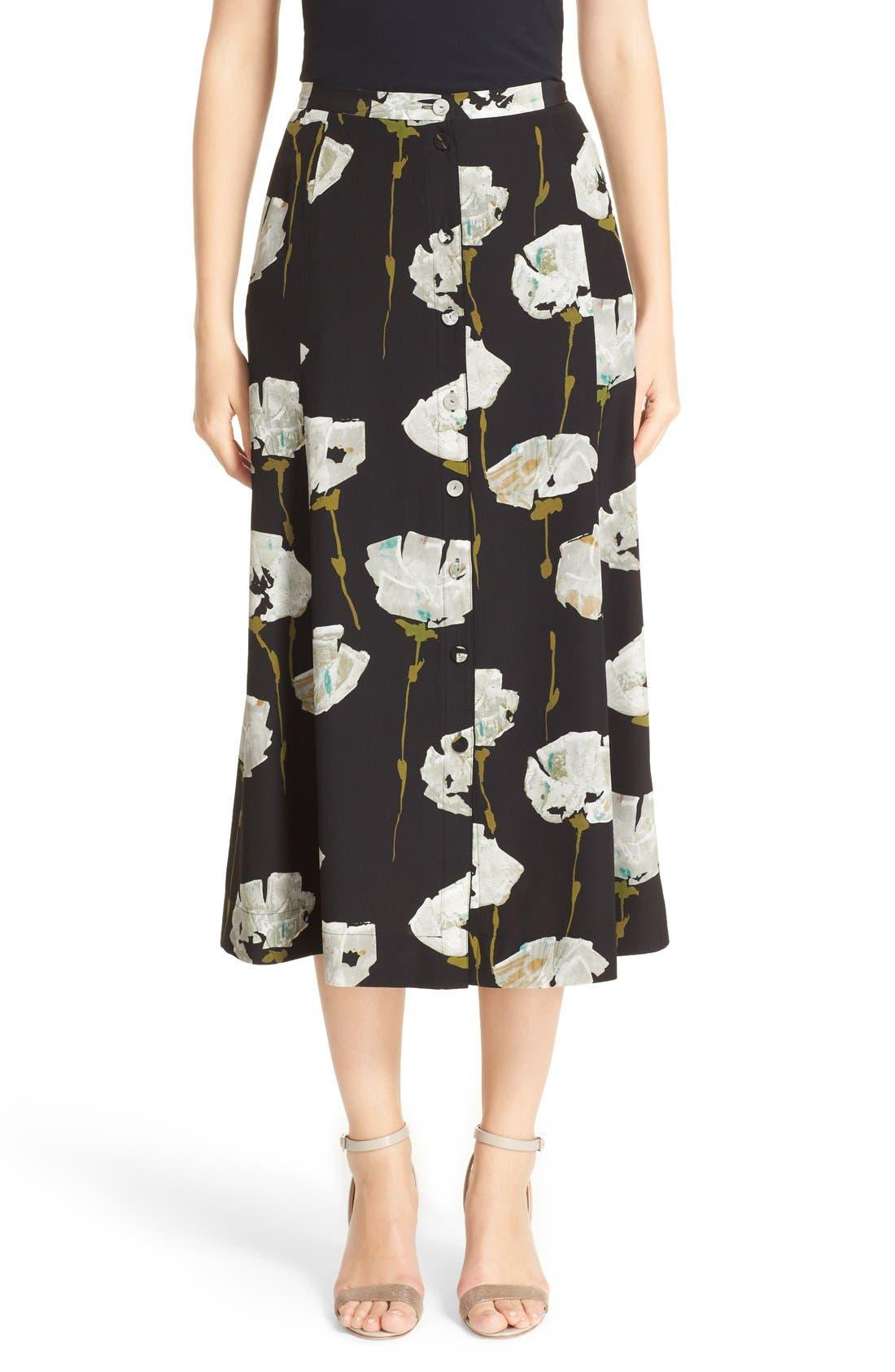 Alternate Image 1  - Lafayette 148 New York Carissa Floral Print Skirt