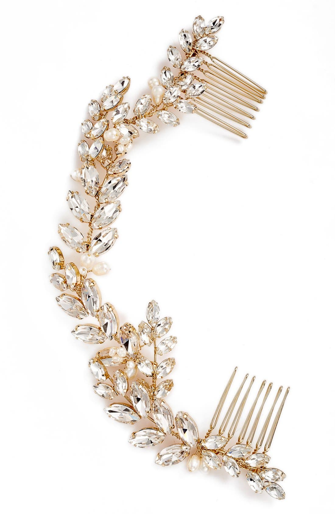 Alternate Image 2  - Brides & Hairpins Abrielle Crystal & Pearl Headpiece