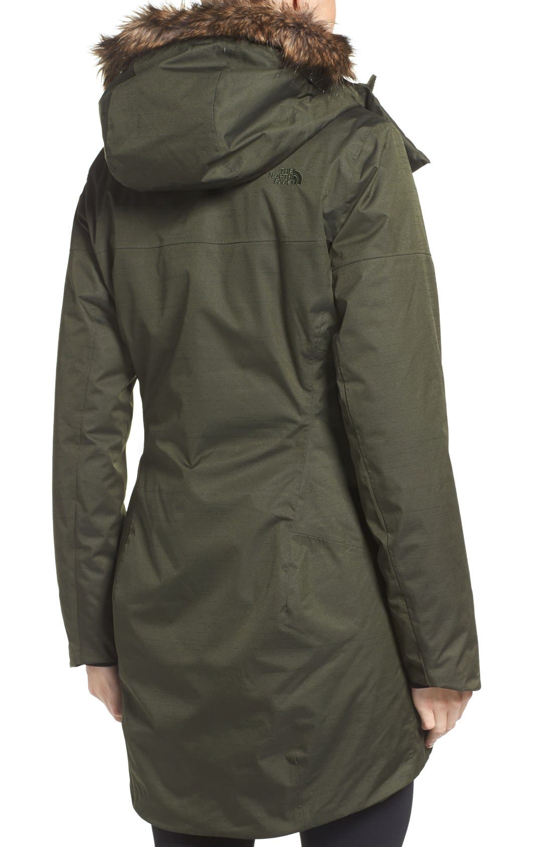 Alternate Image 2  - The North Face Far Northern Waterproof Down Parka with Faux Fur Trim