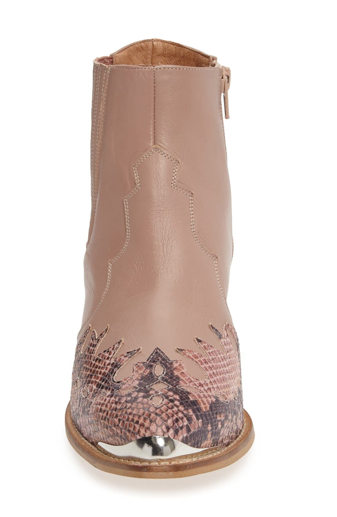 Alternate Image 3  - Topshop 'Arson' Western Ankle Boots (Women)