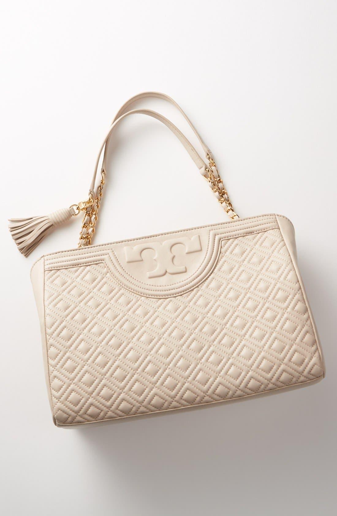 Alternate Image 7  - Tory Burch Fleming Leather Shoulder Bag