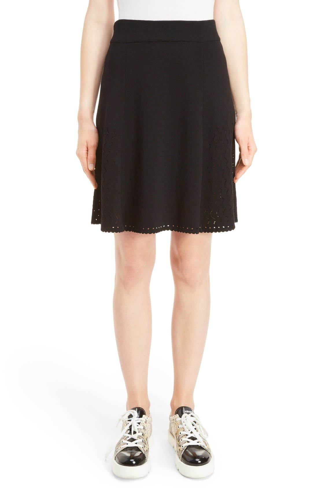 KENZO Perforated Knit Skirt