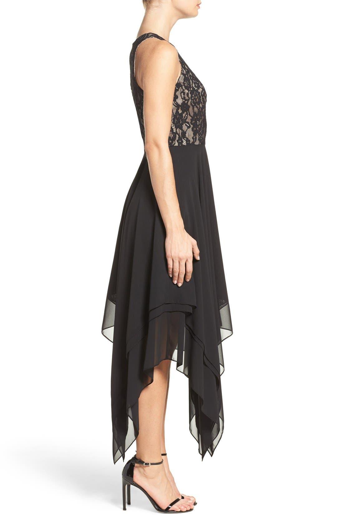 Alternate Image 3  - Aidan by Aidan Mattox Lace & Chiffon Midi Dress