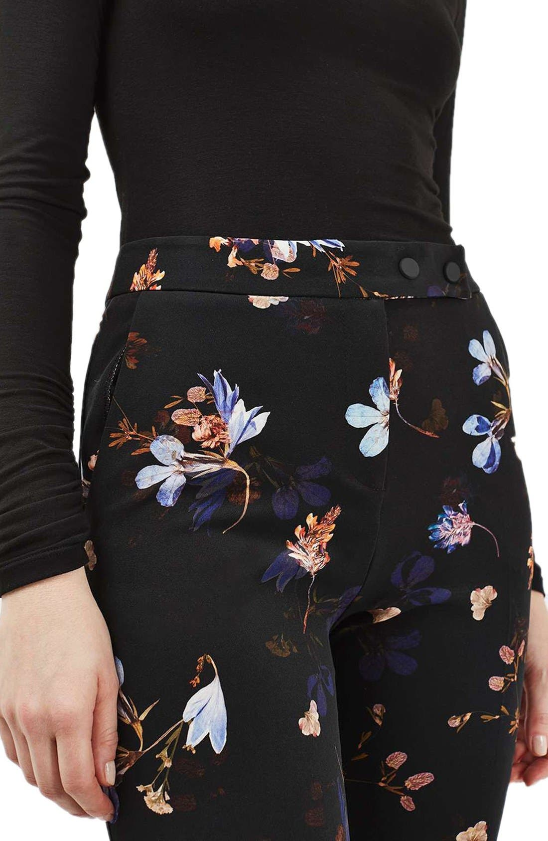 Alternate Image 5  - Topshop Floral Print Cigarette Pants