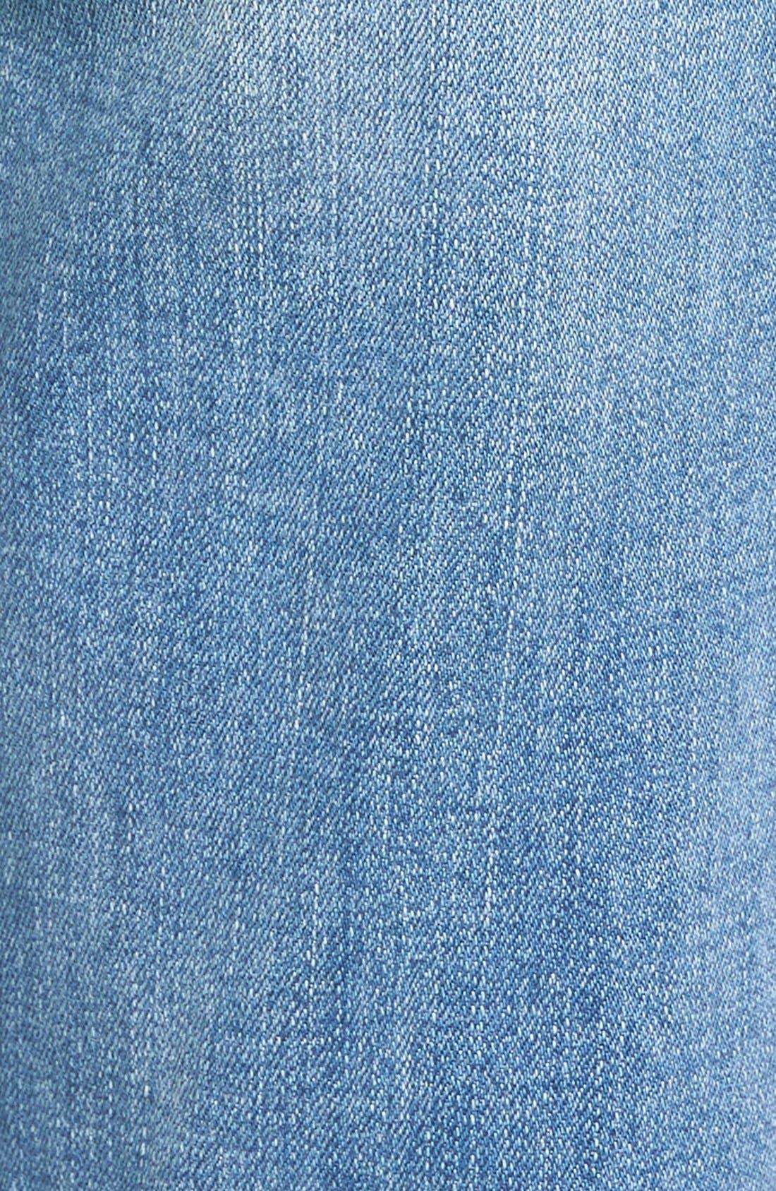 Alternate Image 6  - 7 For All Mankind® Josefina Embroidered Boyfriend Jeans (Denim Embroidery Botanical)