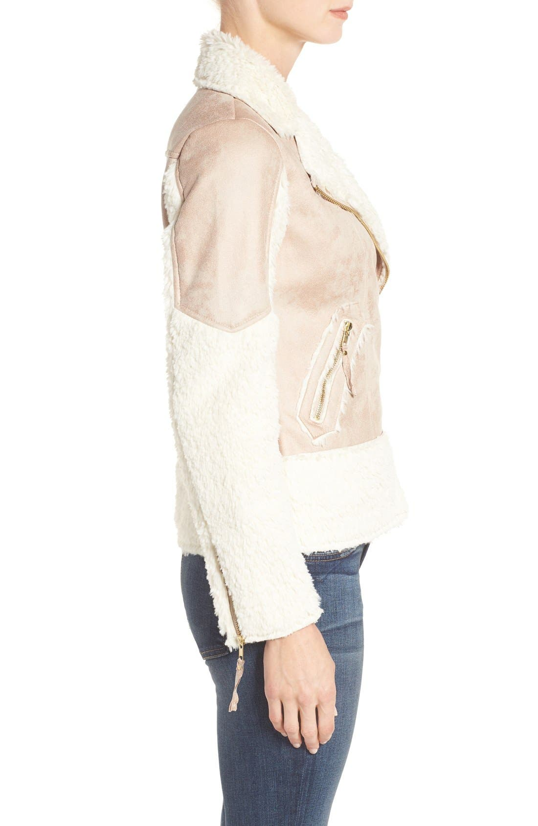 Alternate Image 4  - KUT from the Kloth Baylee Faux Shearling Jacket