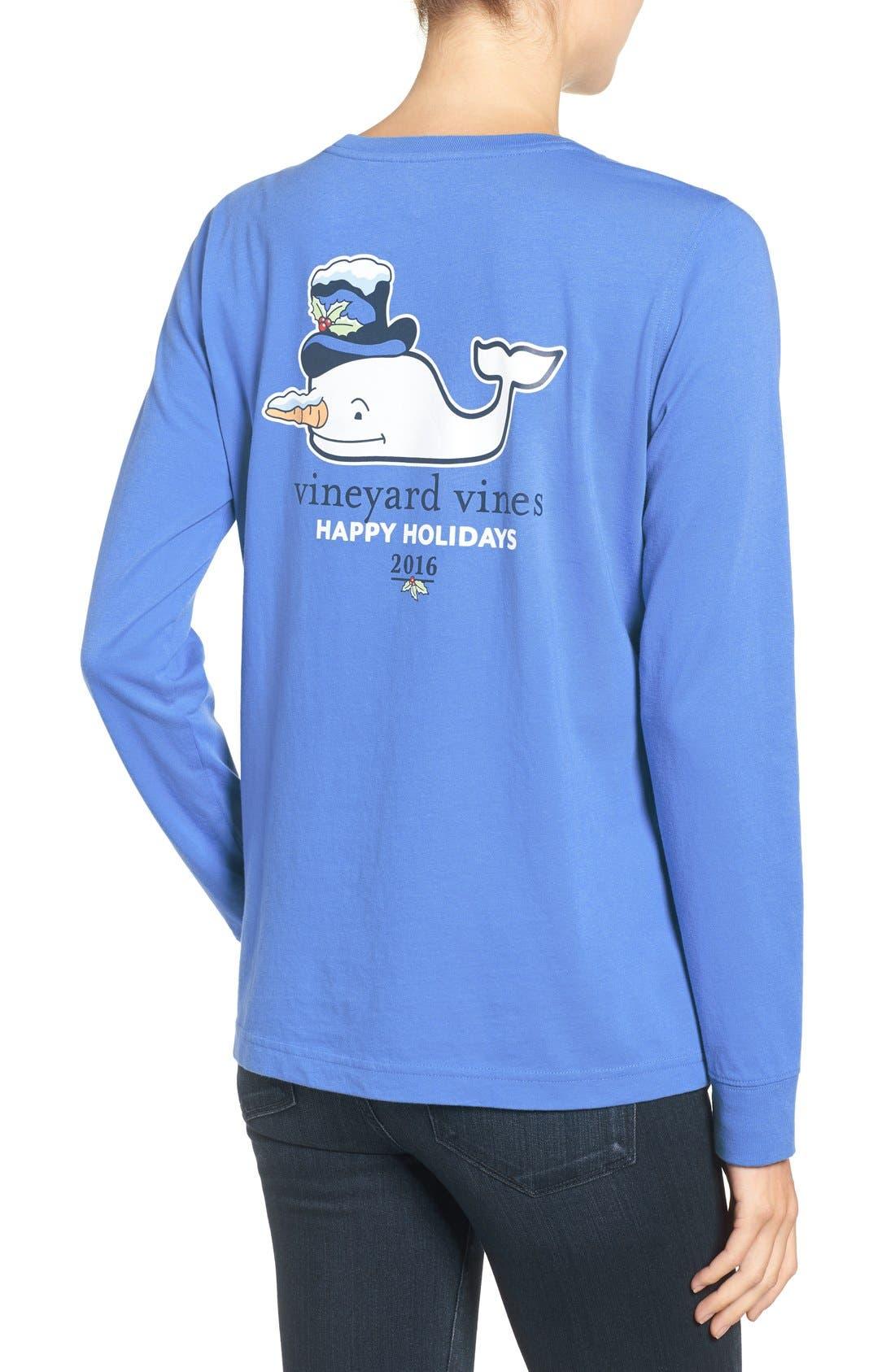 Alternate Image 2  - Vineyard Vines Snowman Whale Cotton Tee
