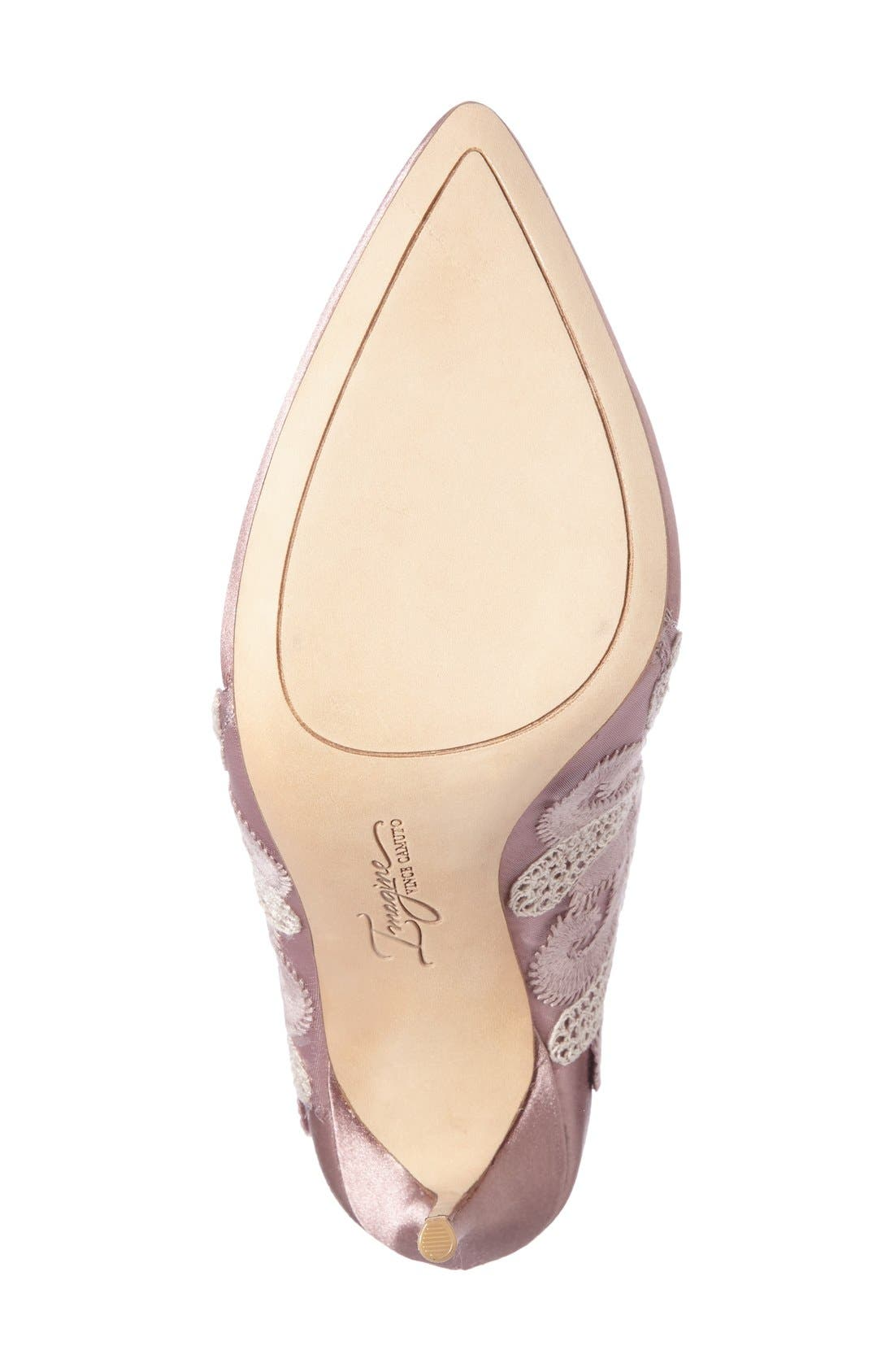 Alternate Image 4  - Imagine by Vince Camuto Obin Lace Detailed Pointy Toe Pump (Women)