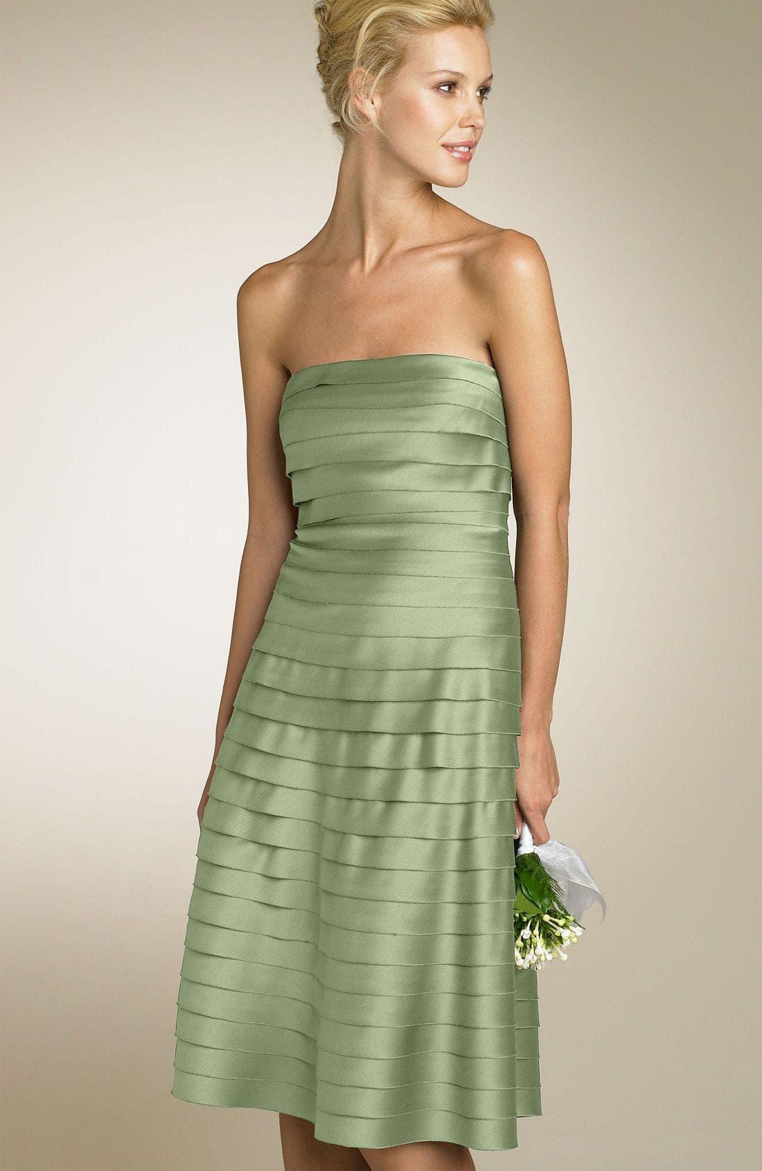 Alternate Image 1 Selected - Eliza J Strapless Satin Party Dress