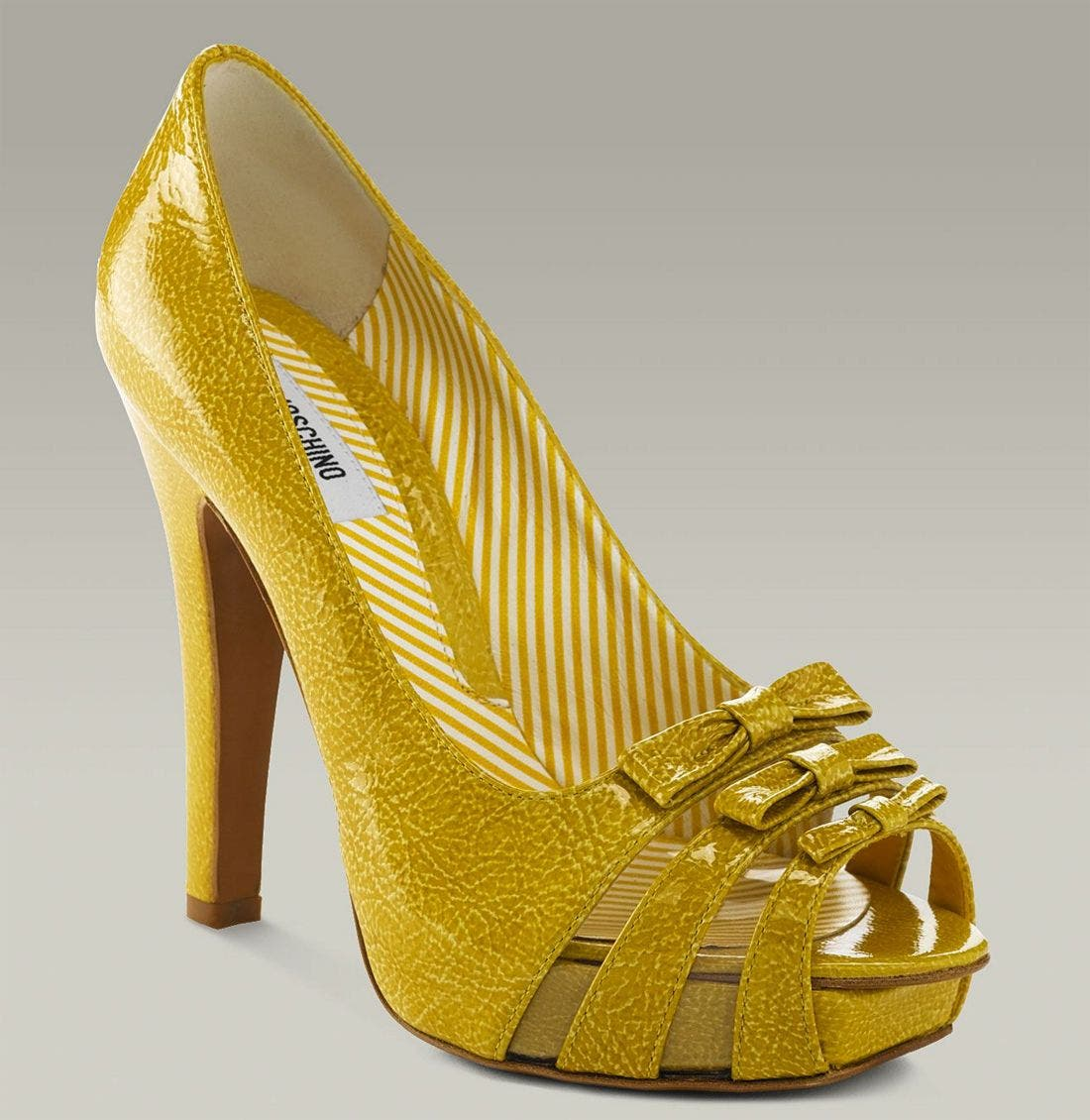 Alternate Image 1 Selected - Moschino Platform Pump with Triple Bow Detail