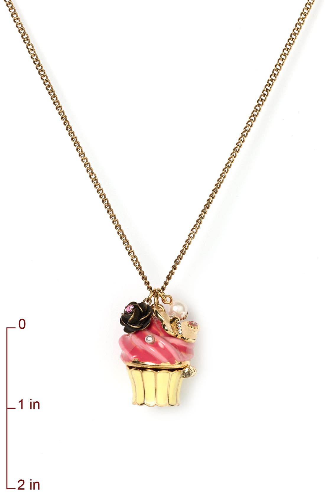 Alternate Image 2  - Betsey Johnson Cupcake Pendant Necklace