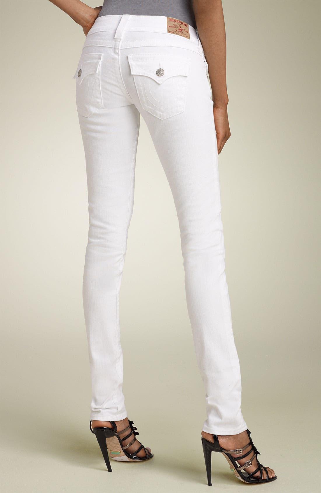 Alternate Image 2  - True Religion Brand Jeans 'Julie' Skinny Stretch Jeans (Body Rinse White)