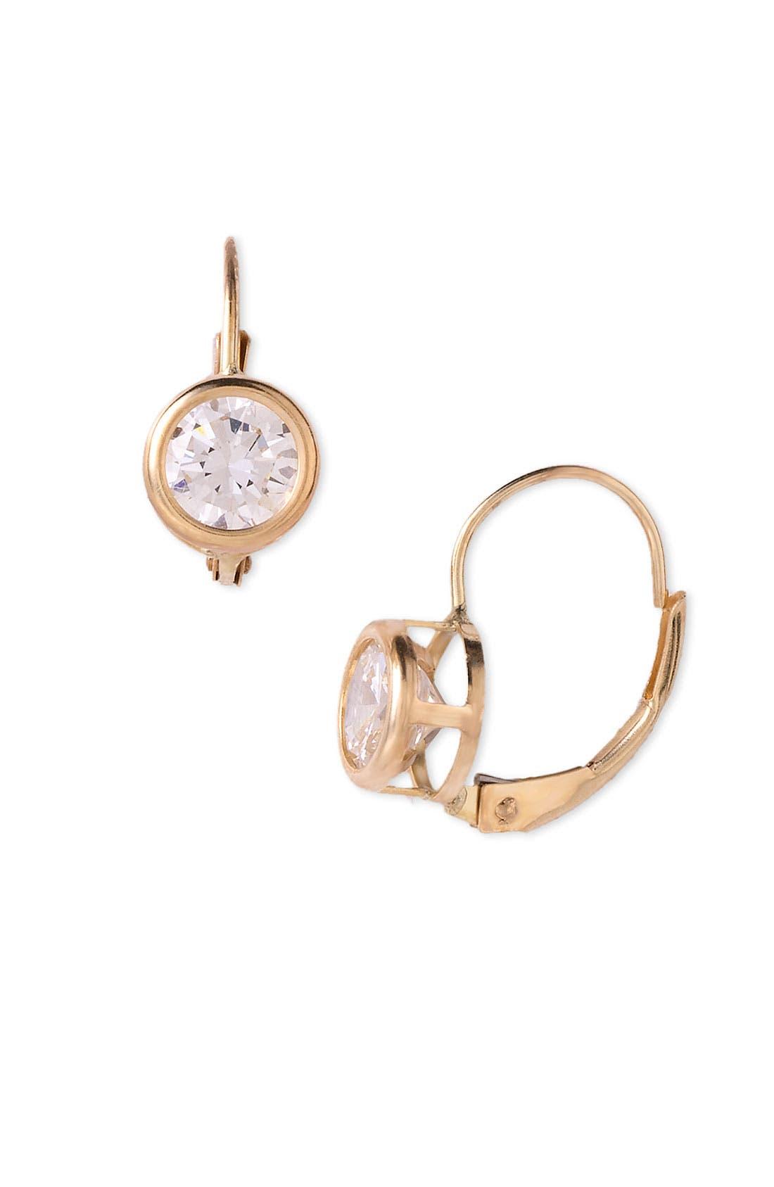 Main Image - Nordstrom Bezel Set Cubic Zirconia Earrings