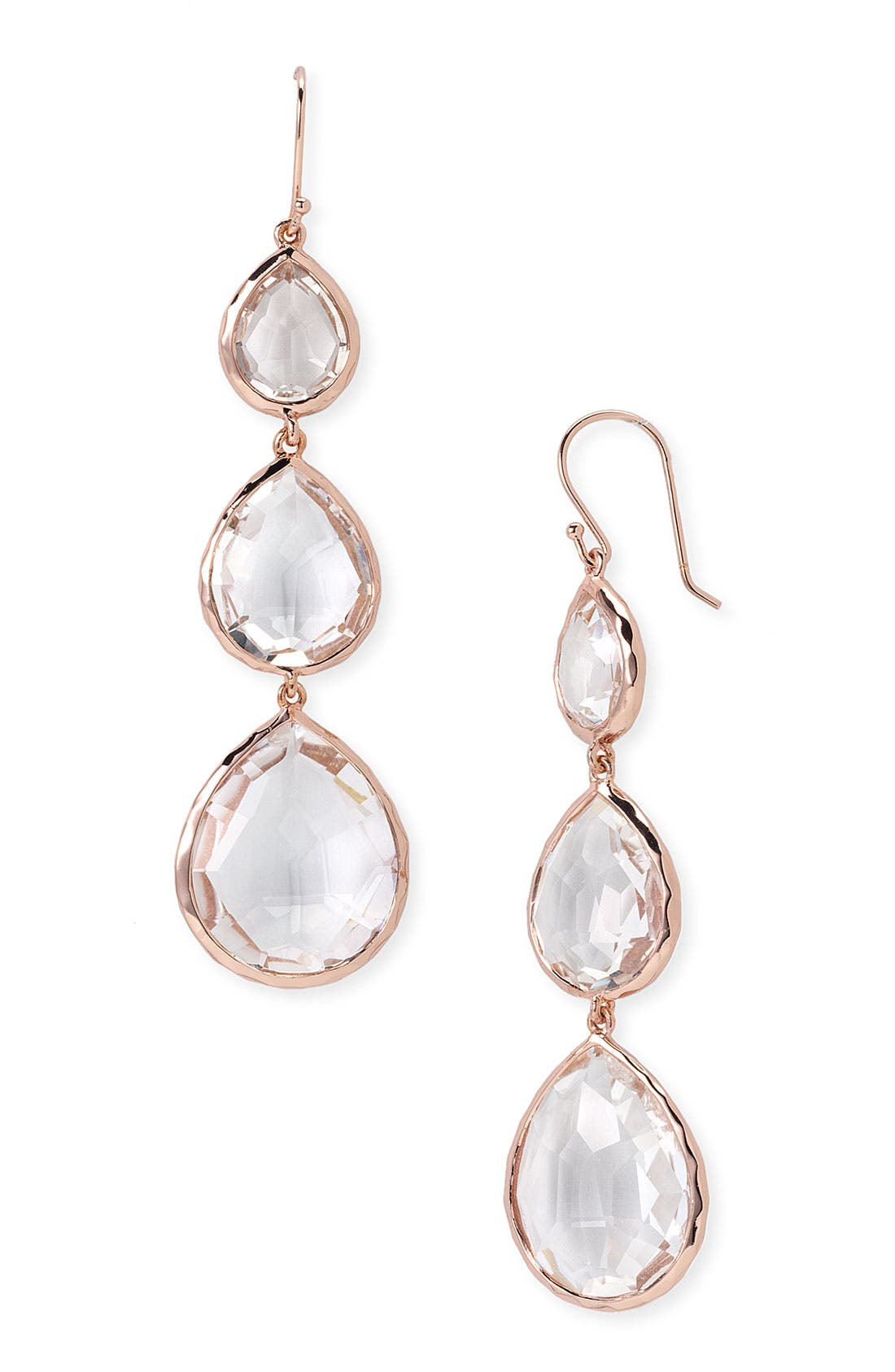 Alternate Image 1 Selected - Ippolita 'Triple Teardrop' Rosé Earrings