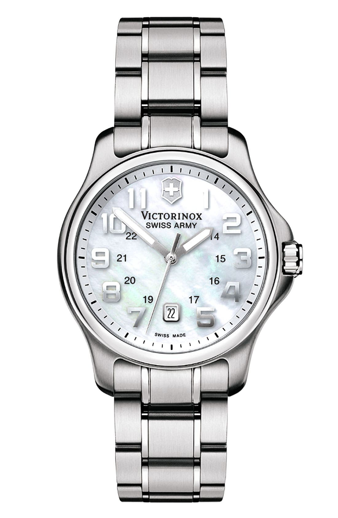 Alternate Image 1 Selected - Victorinox Swiss Army® 'Officers Small' Watch, 32mm