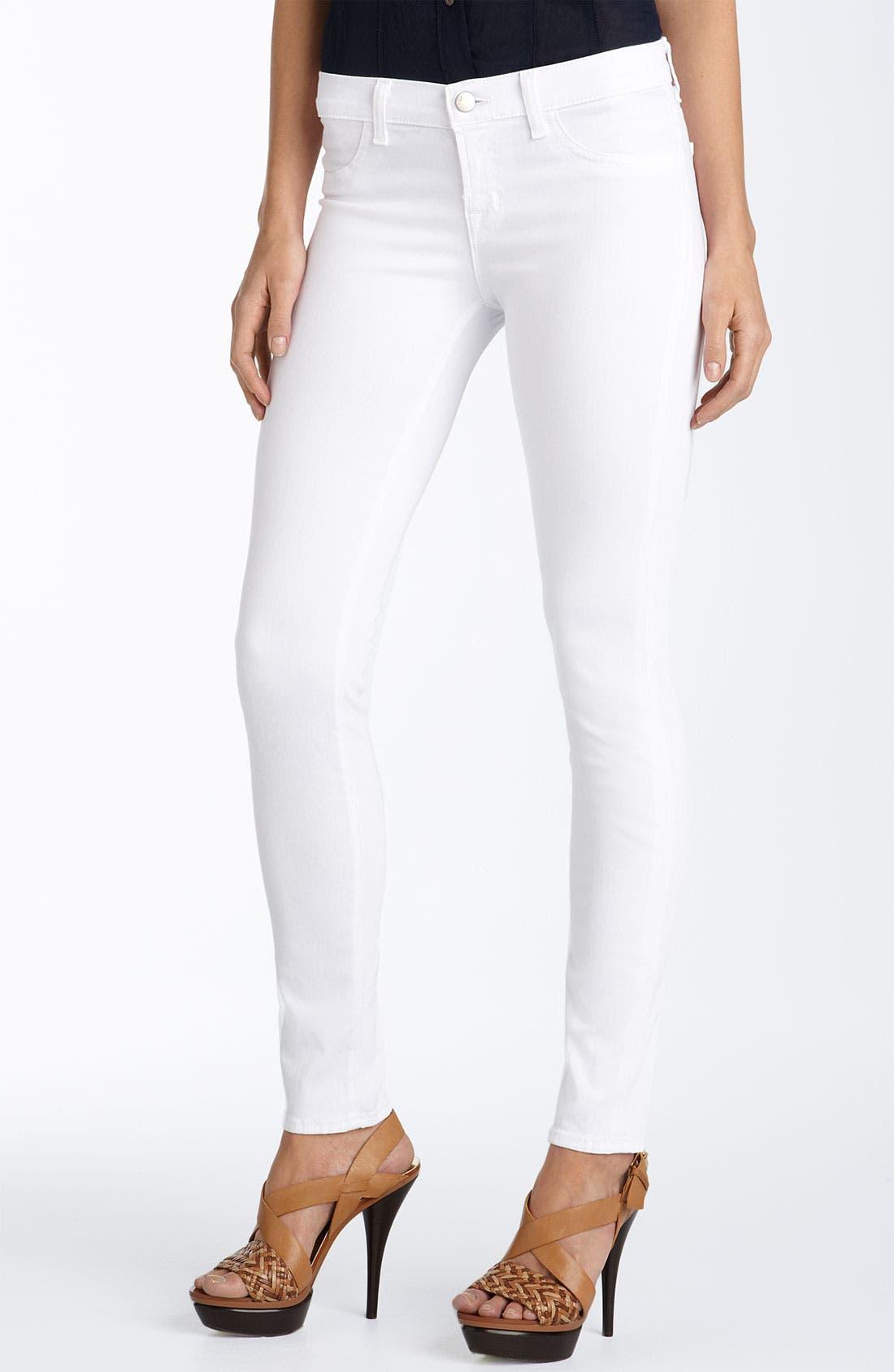 Main Image - J Brand Stretch Denim Leggings (White Wash)