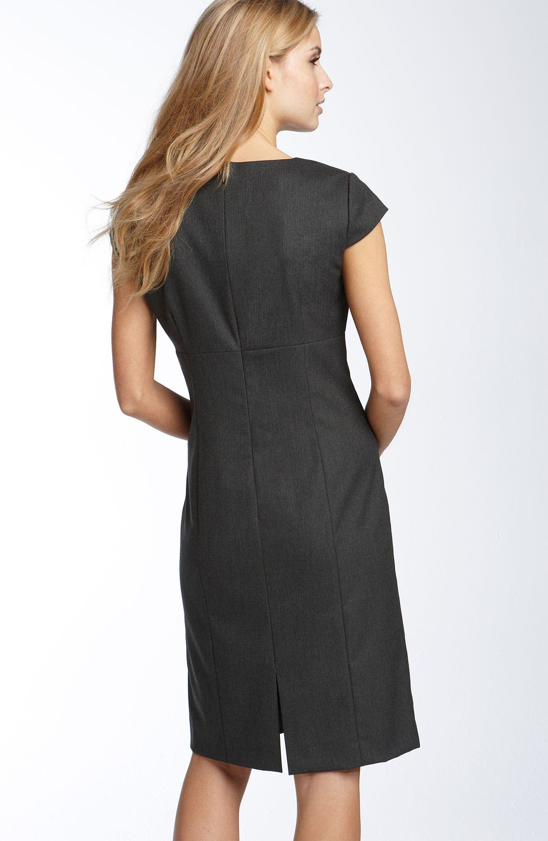 Alternate Image 2  - Tahari by Arthur S. Levine Herringbone Sheath Dress