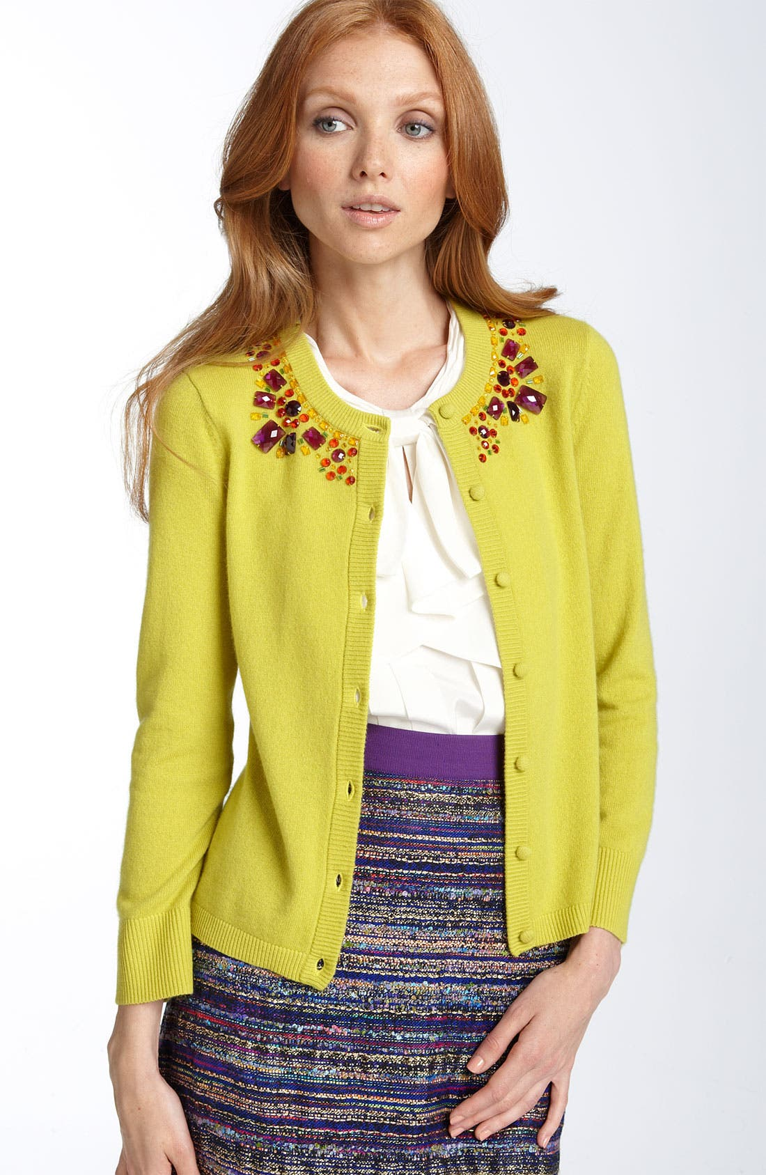 Alternate Image 1 Selected - kate spade new york 'paulina' embellished cardigan