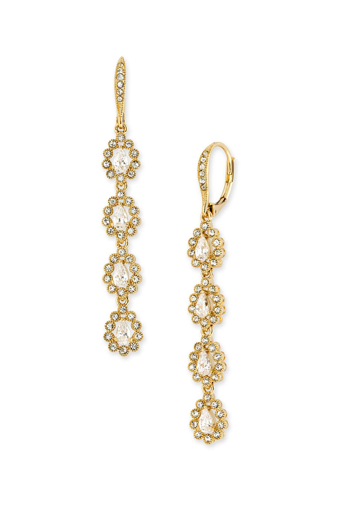 Main Image - Nadri Linear Teardrop Earrings
