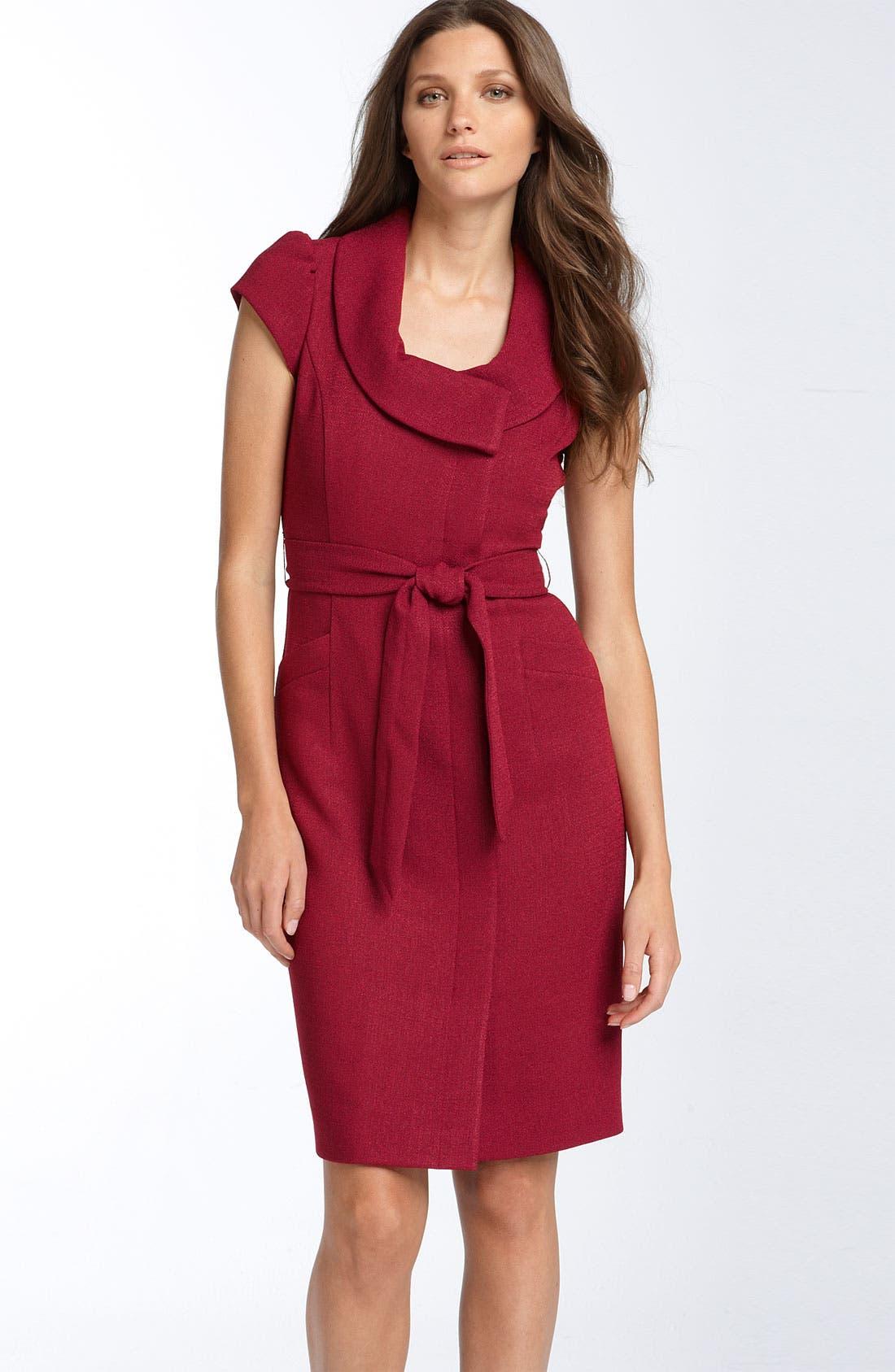 Main Image - Classiques Entier® 'Caprice' Cap Sleeve Crepe Dress