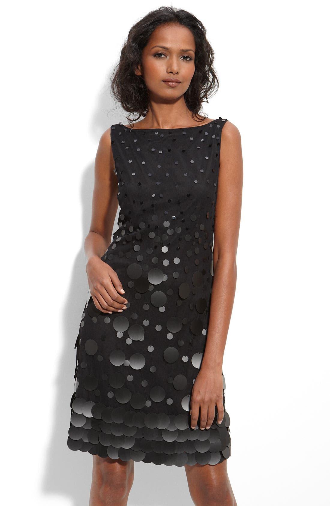 Main Image - Jessica Simpson Graduated Paillette Shift Dress